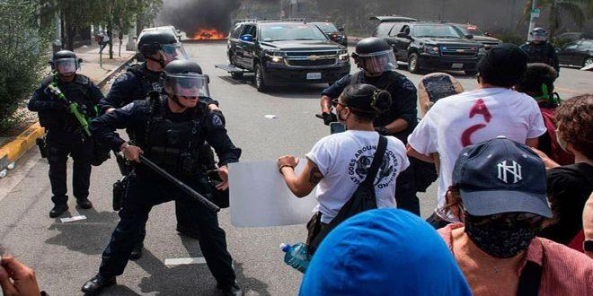 """גל ההפגנות בארה""""ב הולך וגובר על רקע הריגתו של בן אדם מירי המשטרה"""