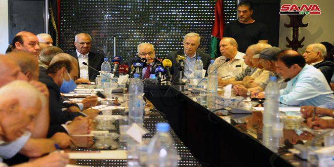 פלגי ההתקוממות הפלסטינית בדמשק גינו את תוכניות הסיפוח של הישות הציונית