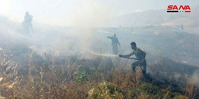 שריפה ישראלית השתרעה עד השטחים המשוחררים במחוז אל-קוניטרה
