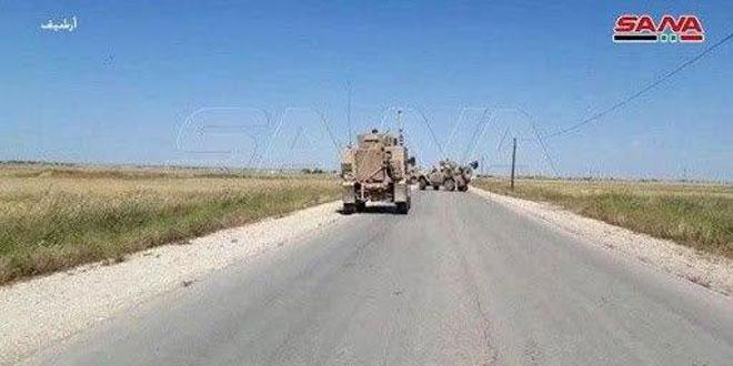 הכיבוש האמריקאי מכניס עוד ועוד תגבורות צבאיות ולוגיסטיות לבסיסיו הבלתי חוקיים שבפרבר אל-חסכה