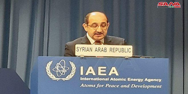"""השגריר סבאע' : הדו""""ח השנתי של הסוכנות הבינלאומית לאנרגייה אטומית מעיד על התחייבותה של סוריה"""