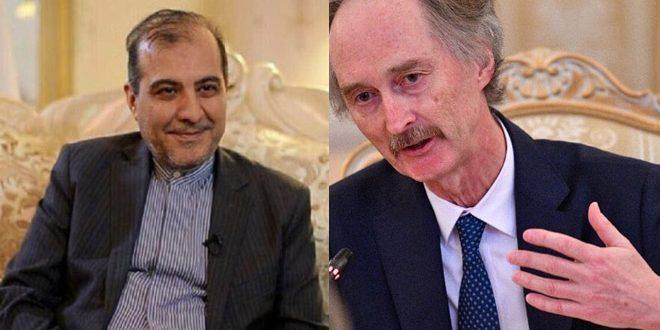 אסע'ר ח'אג'י ובידרסון דנו במאמצים לפתרון המשבר בסוריה