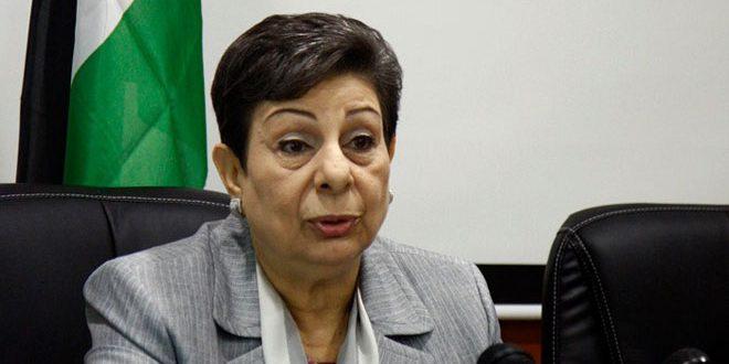 """עשראו'י חידשה את קריאתה לקהילה הבינ""""ל לשאת באחריותה ולהפעיל לחצים על הכיבוש כדי להפסיק פשעיו נגד הפלסטינים"""