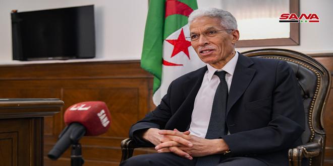 שגריר אלג'יריה בדמשק: יחסינו עם סוריה תמיד התאפינו בצורתם הדוקה ואנו דואגים לחזוקם