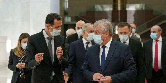 הנשיא אל-אסד קיבל פני משלחת רוסית בראשותו של אלכסנדר לברנטייב