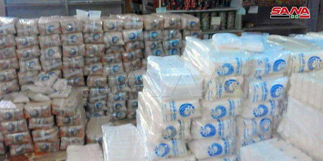 החברה סוריה לסחר במוכנות לחלק את מנות הסוכר והאורז לאזרחים