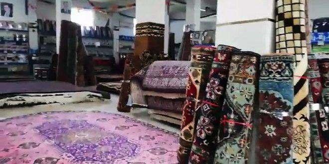 תערוכת שטיחים ומכשירי חשמל באולם החברה הסורית למסחר בקטנה