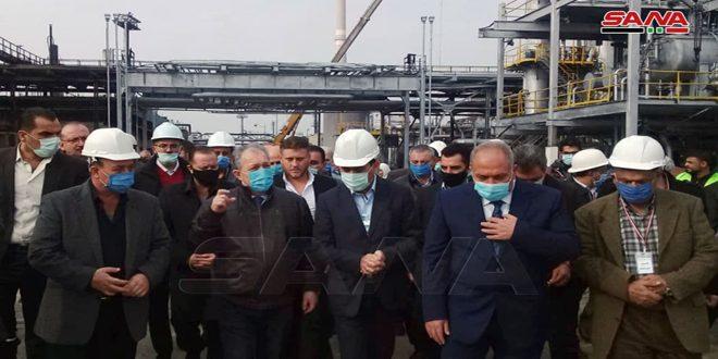 ראש הממשלה המהנדס חוסין ערנוס ביקר בבית הזקוק בחומס