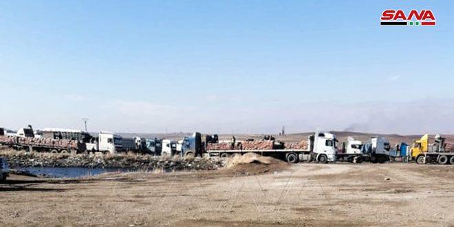 הכיבוש האמריקני מוציא 20 משאיות עמוסות דגנים גנובים מאל-חסכה לעירק