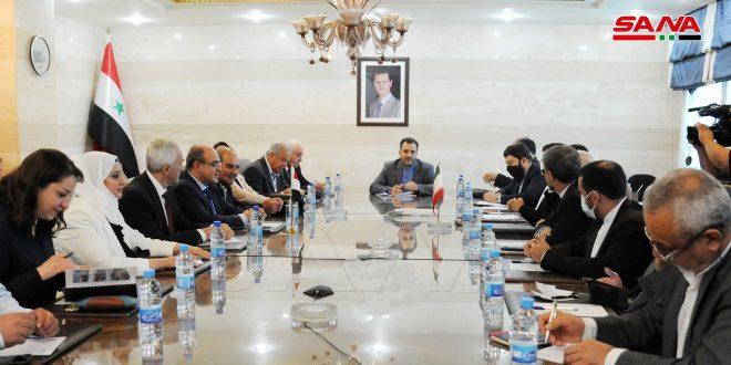שיחות סוריות-איראניות להגביר את שיתוף הפעולה הכלכלי