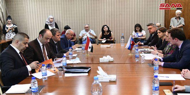"""הפגישה המשותפת הסורית-רוסית למעקב אחרי הוועידה הבינ""""ל אודות לשיבתם של הפליטים קיימה היום שיחות לשיתוף פעולה בכל התחומים"""