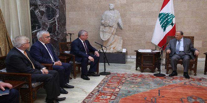 Аун и Басиль обсудили проблему сирийских беженцев с Лаврентьевым