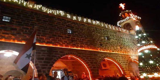 В провинции Дараа зажглась рождественская елка