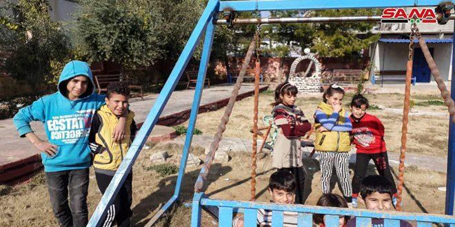 Благодаря Сирийской Арабской армии в Абу-Расейн восстанавливается нормальная жизнь