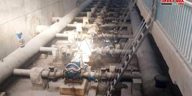 Началась перекачка воды с водонасосной станции «Аллюк» в город Хасаке и окрестности