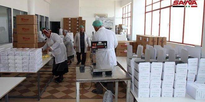 Сирийская фармацевтическая компания «Тамеко» отправляет партию медикаментов в провинцию Алеппо