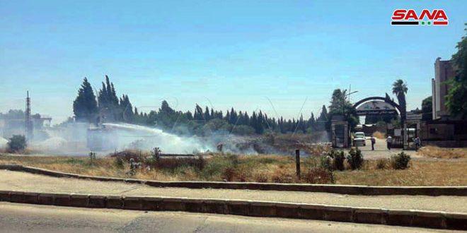 У южного въезда в город Хомс потушен пожар