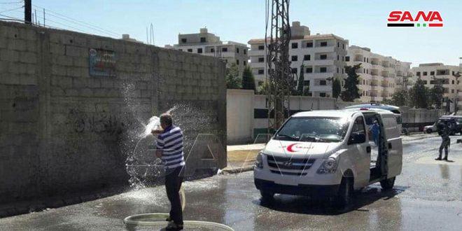Камера САНА засняла усилия секторов здравоохранения и обслуживания в Ждейдет Аль-Фадль
