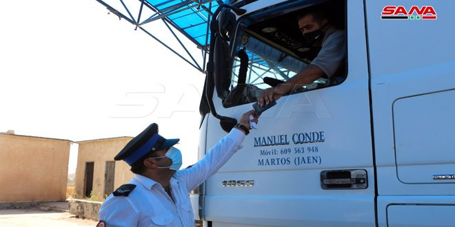 Через КПП «Насиб-Джабер» в Иорданию въехали еще 40 грузовиков