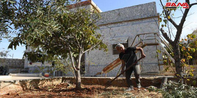 Жизнь постепенно возвращается в поселок Бианун провинции Алеппо
