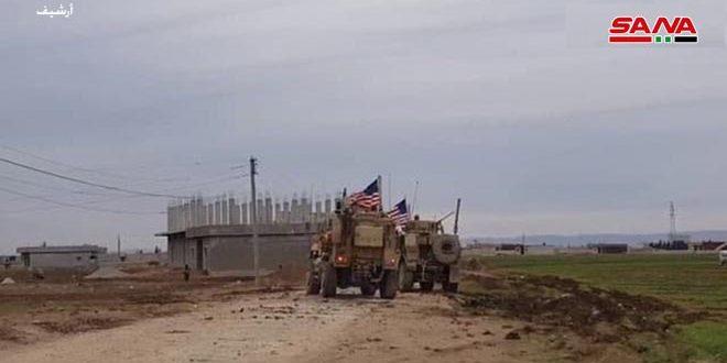 В Эль-Камышлы жители селения Хирбет Аз-Зияба перекрыли дорогу американской бронетехнике