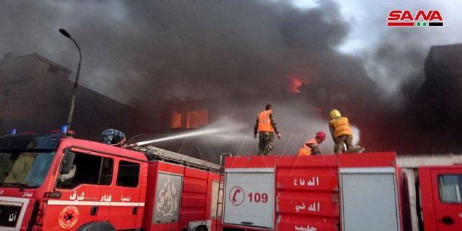 В промзоне Аш-Шейх Наджар в Алеппо вспыхнул пожар