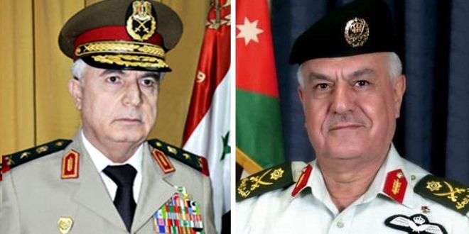 По приглашению иорданского начальника штаба генерал Айюб прибыл с визитом в Иорданию