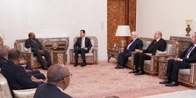 Cumhurbaşkanı el Esad Sudan Başkanı Beşir ile Suriye ve bölgedeki son gelişmeleri görüştü