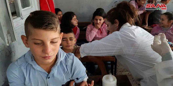 Hama Kırsalında Ulusal Aşı Kampanyası Çalışmalarına Başlatıldı