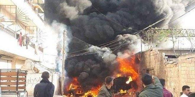 Halep Kırsalı Afrin'de Yakıt Tankerine Yerleştirilen Bomba Düzeneği Patladı