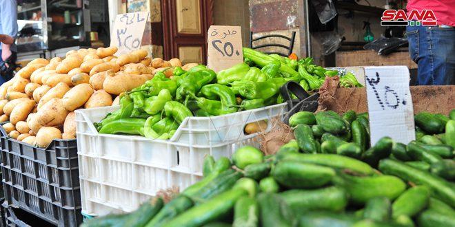 Şam Pazarları.. Sebze Fiyatlarında Düşüş Sürerken Büyük Miktarda Mal Bulunuyor