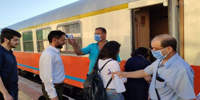 Koronavirüse Karşı Alınan Tedbirlerle Tertus'tan Lazkiye'ye İki Tren Seferi