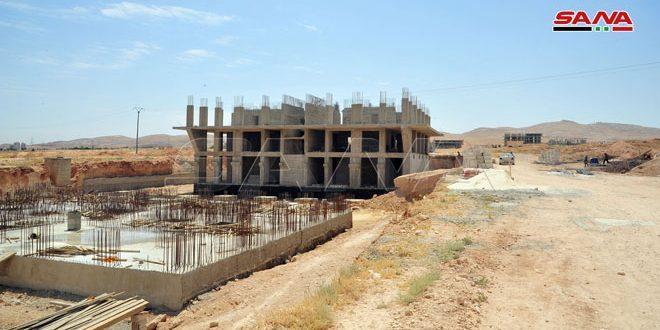 El Feyha Konut Banliyösünde 11 Bin Daire'den Oluşan İnşaat Çalışmaların %80'i Tamamlandı