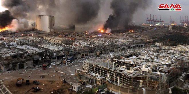 Lübnan Sağlık Bakanı: Beyrut Patlamasında Ölenlerin Sayısı 25'i Yaralılar Da 2500'ü Aştı