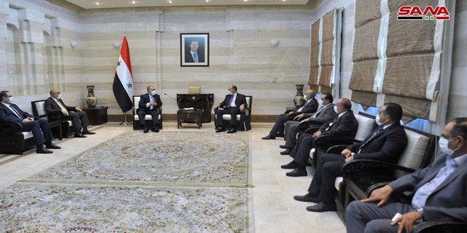 Başbakan Arnus Homs Sanayi Odası Yönetim Kurulu İle Bir Araya Geldi