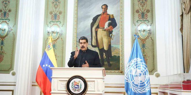 Maduro Aralarında Suriye'ninde Bulunduğu Diğer Ülkelerle Ülkesine Dayatılan Tek Taraflı Amerikan Yaptırımlarının Kaldırılmasına Çağrı Yaptı