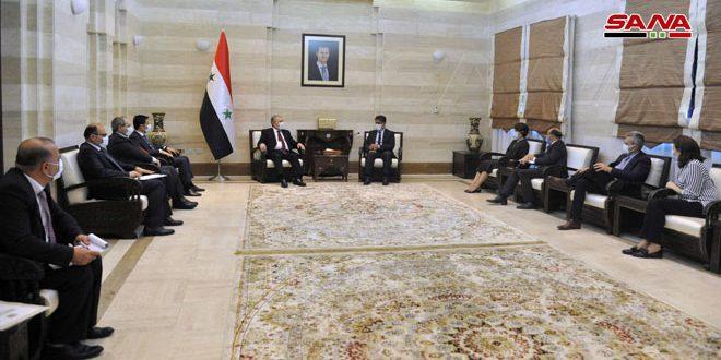 Müh. Arnus, El Munzari İle Corona Salgınının Zorluklarına Karşı Suriye Ve DSÖ Arasındaki İşbirliği Ve Koordinasyonun Güçlendirilmesini Ele Aldı