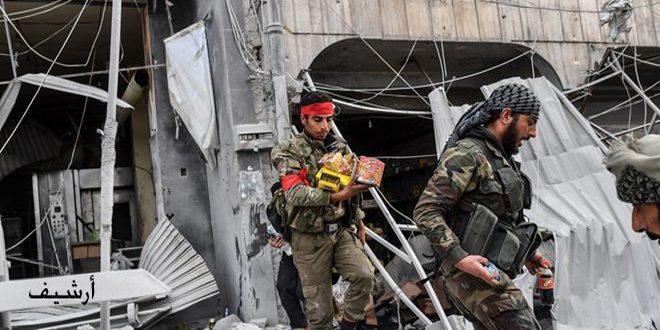Erdoğan Teröristleri Halep Şehrinde Birkaç ev ve dükkanı Ele Geçirdi