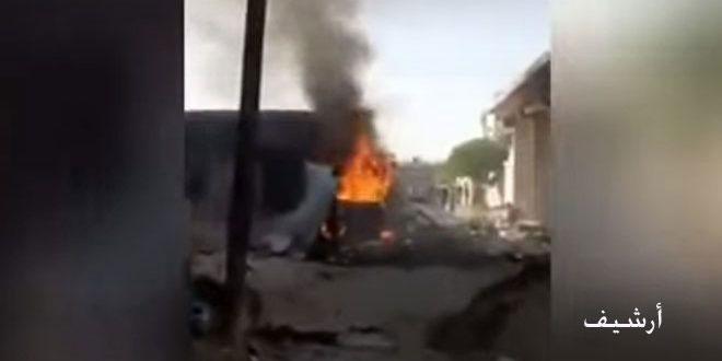 El Bab'da Bombalı Eylem.. Türk İşgalinin Kiralık Teröristleri Arasında İsabetler..