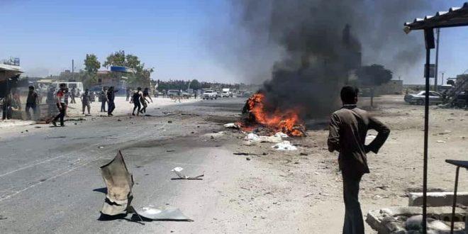 Afrin Kırsalında Bombalı Eylem.. Türk İşgaline Tabi 2 Kiralık Terörist Öldürüldü ve Diğer Dört Kişi Yaralandı