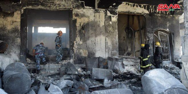Halep'teki Sanayi Kentinde Çıkan Yangında Beş Kişi Hayatını Kaybetti, Diğer 7 Yaralandı