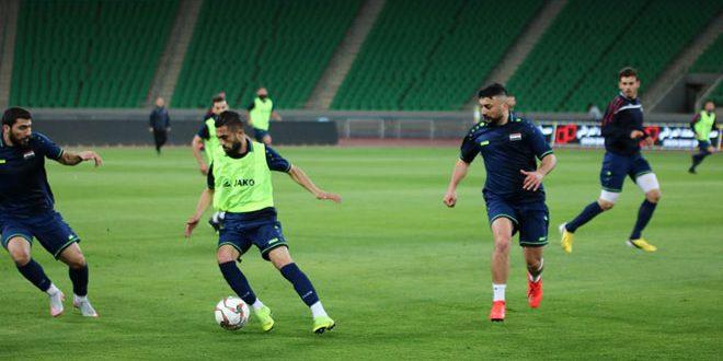 منتخب سورية لكرة القدم يختتم تدريباته استعدادا للقاء نظيره العراقي في دورة الصداقة الدولية