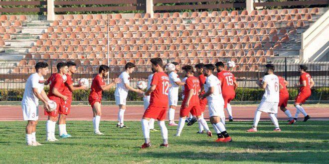 منتخب سورية الأولمبي لكرة القدم يواصل معسكره التدريبي بدمشق