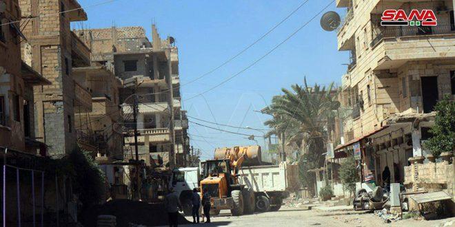 حملة تنظيف تطوعية لأهالي حي الجبيلة في دير الزور