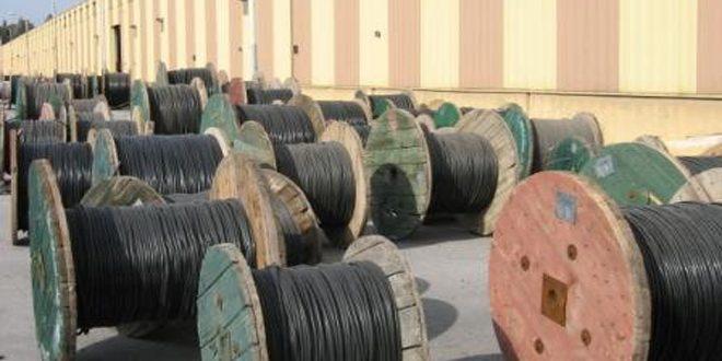 شركة كابلات حلب تنتج 836 طنا بقيمة 5ر1 مليار ليرة في 6 أشهر