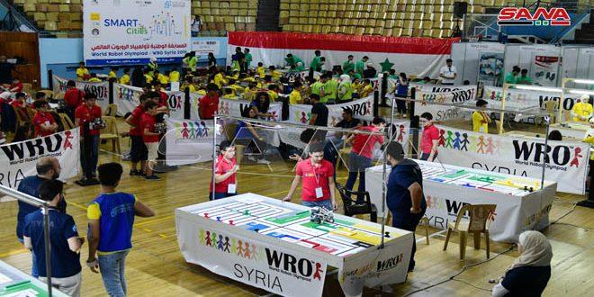 استمرار منافسات البطولة الوطنية لأولمبياد الروبوت العالمي في صالة الفيحاء الرياضية