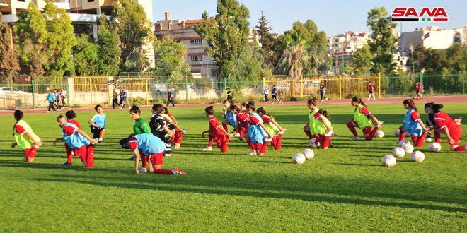 معسكر تدريبي لمنتخب سورية للناشئات بكرة القدم استعداداً لغرب آسيا