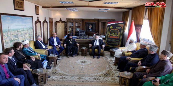 وزير الأوقاف: توطيد علاقات التعاون مع المؤسسات الدينية في الاتحاد الروسي