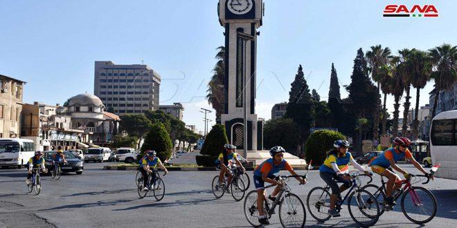 شعلة النصر تنطلق من حمص باتجاه دير عطية بريف دمشق
