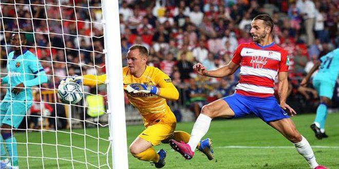 فوز غرناطة على ضيفه برشلونة في الدوري الإسباني
